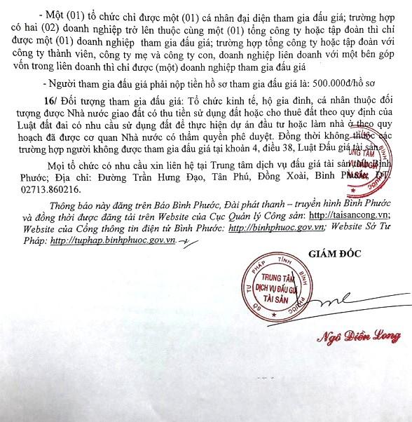 Ngày 25/3/2019, đấu giá quyền sử dụng 400 lô đất tại thành phố Đồng Xoài, tỉnh Bình Phước ảnh 3