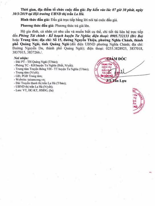 Ngày 30/3/2019, đấu giá quyền sử dụng 37 lô đất tại huyện Tư Nghĩa, tỉnh Quảng Ngãi ảnh 3