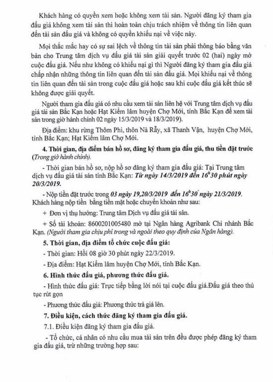 Ngày 22/3/2019, đấu giá lô gỗ tròn và dụng cụ tại tỉnh Bắc Kạn ảnh 2