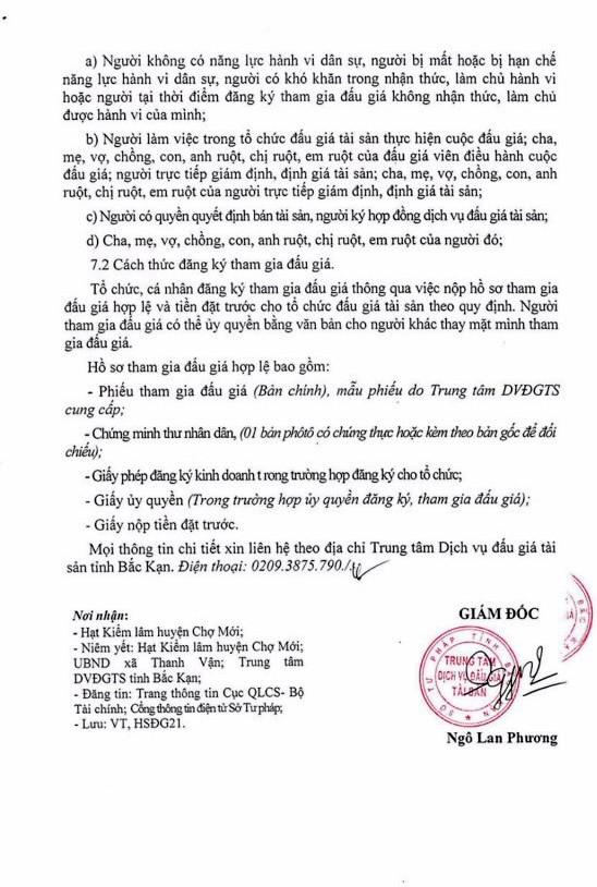 Ngày 22/3/2019, đấu giá lô gỗ tròn và dụng cụ tại tỉnh Bắc Kạn ảnh 3