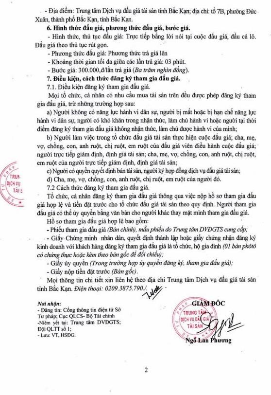 Ngày 27/03/2019, đấu giá hàng hóa, vật tư tại tỉnh Bắc Kạn ảnh 2