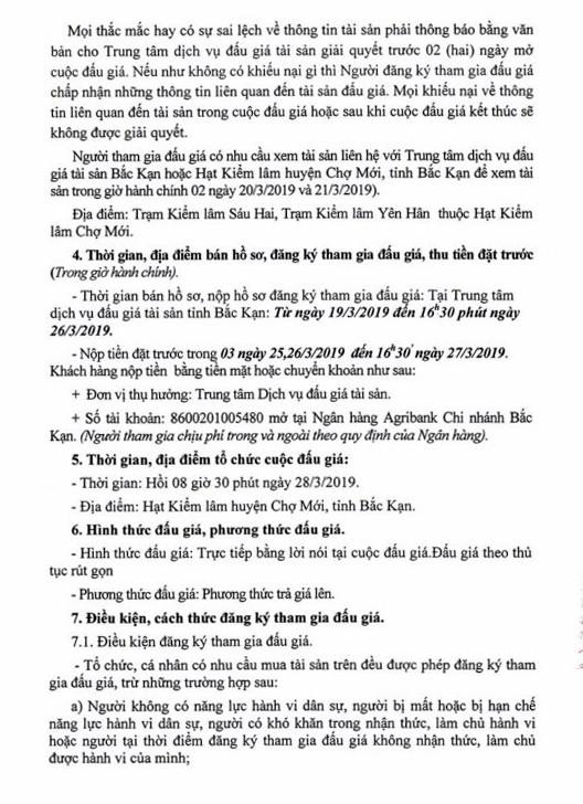Ngày 28/3/2019, đấu giá lô gỗ tròn tại tỉnh Bắc Kạn ảnh 2