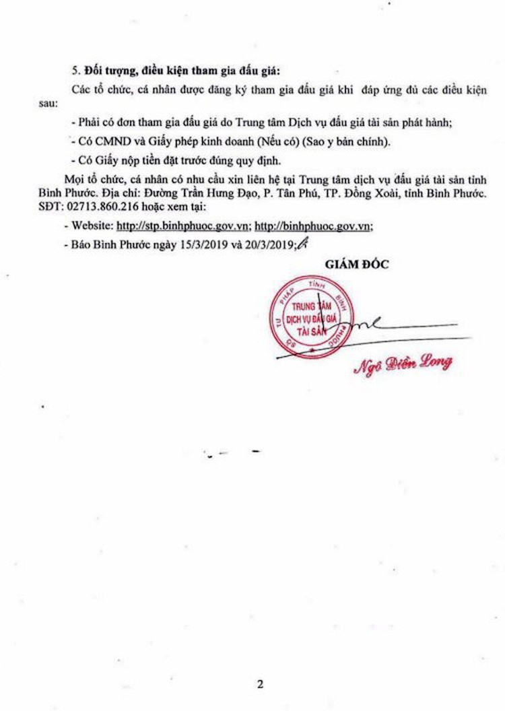 Ngày 4/4/2019, đấu giá 10 lóng, 2 gốc gỗ tại tỉnh Bình Phước ảnh 2