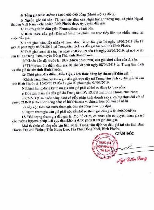 Ngày 8/4/2019, đấu giá quyền sử dụng đất và tài sản gắn liền với đất tại huyện Đồng Phú, tỉnh Bình Phước ảnh 2