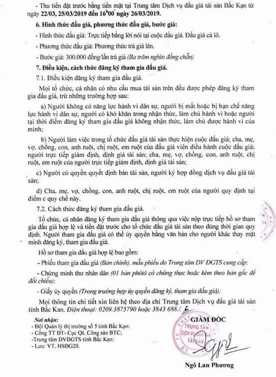 Ngày 27/3/2019, Đấu giá tang vật vi phạm hành chính tại tỉnh Bắc Kạn ảnh 2