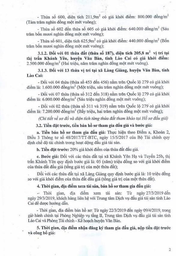 Ngày 12/4/2019, đấu giá quyền sử dụng đất tại huyện Văn Bàn, tỉnh Lào Cai ảnh 2