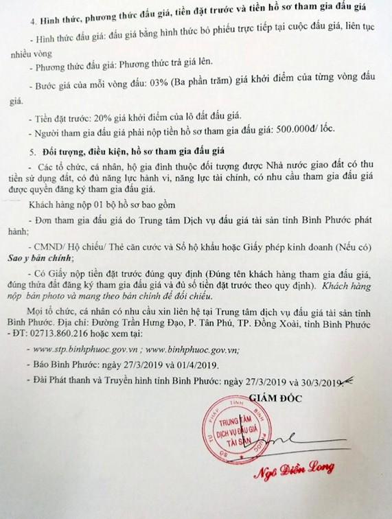 Ngày 19/4/2019, đấu giá quyền sử dụng 20 lô đất tại huyện Hớn Quảng, tỉnh Bình Phước ảnh 2