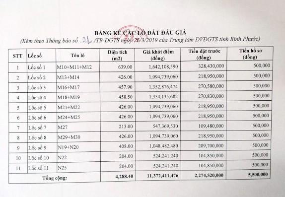 Ngày 19/4/2019, đấu giá quyền sử dụng 20 lô đất tại huyện Hớn Quảng, tỉnh Bình Phước ảnh 3