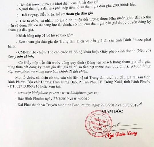 Ngày 26/4/2019, đấu giá quyền sử dụng 21 lô đất tại huyện Hớn Quảng, tỉnh Bình Phước ảnh 2
