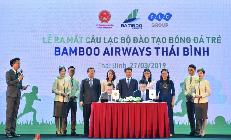 CLB đào tạo bóng đá trẻ Bamboo Airways Thái Bình ra mắt: Hiện thực hoá kì vọng về một nền bóng đá chuyên nghiệp ảnh 1