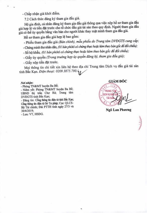 Ngày 18/4/2019, đấu giá quyền sử dụng 6 lô đất tại huyện Ba Bể, tỉnh Bắc Kạn ảnh 3