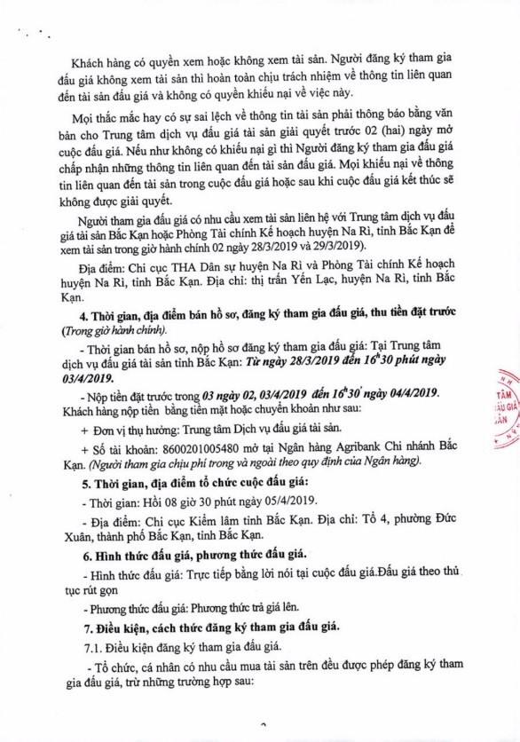 Ngày 5/4/2019, đấu giá tài sản tịch thu sung quỹ nhà nước tại tỉnh Bắc Kạn ảnh 2