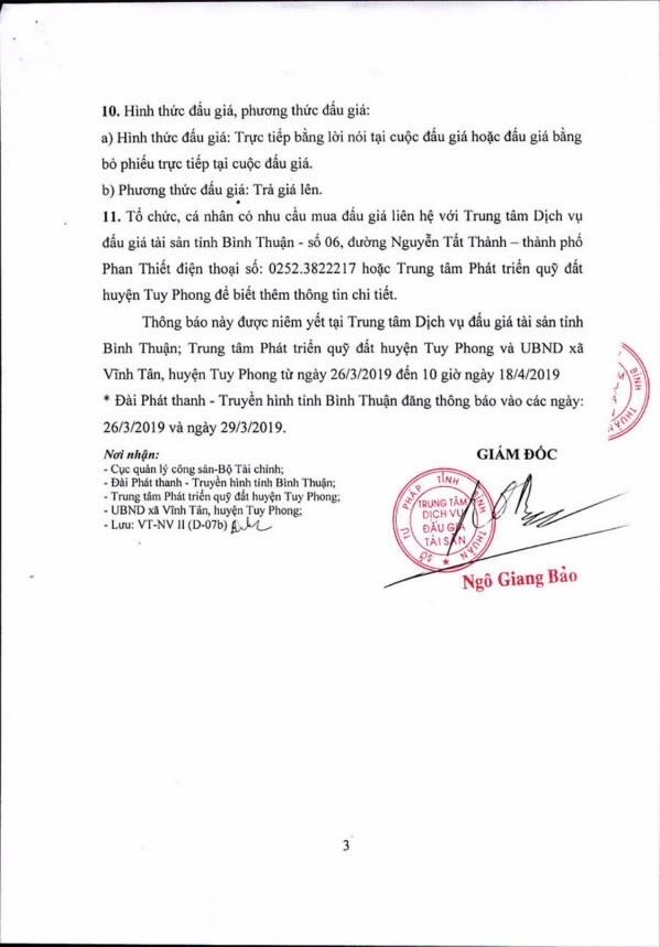Ngày 19/4/2019, đấu giá quyền sử dụng 111 lô đất tại huyện Tuy Phong, tỉnh Bình Thuận ảnh 3