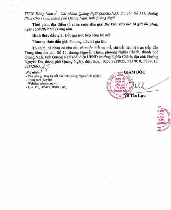 Ngày 15/4/2019, đấu giá 1 xe ô tô Nissan tại tỉnh Quảng Ngãi ảnh 2