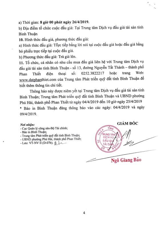 Ngày 26/4/2019, đấu giá quyền sử dụng đất 21 lô đất tại thành phố Phan Thiết, tỉnh Bình Thuận ảnh 4