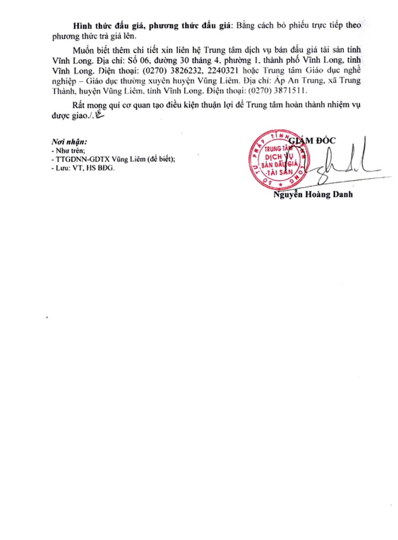 Ngày 27/4/2019, đấu giá vật tư thu hồi thanh lý tài sản tại tỉnh Vĩnh Long ảnh 2