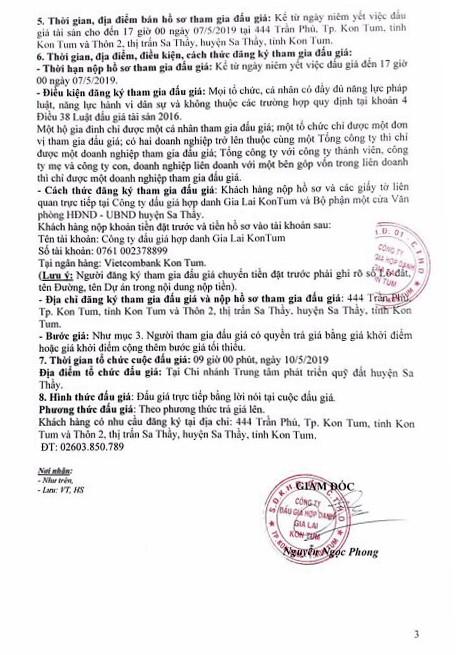 Ngày 10/5/2019, đấu giá quyền sử dụng 33 lô đất tại huyện Sa Thầy, tỉnh Kon Tum ảnh 3