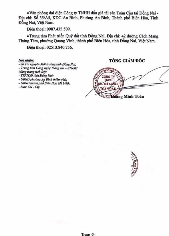 Ngày 5/7/2019, đấu giá quyền sử dụng đất tại thành phố Biên Hòa, tỉnh Đồng Nai ảnh 5
