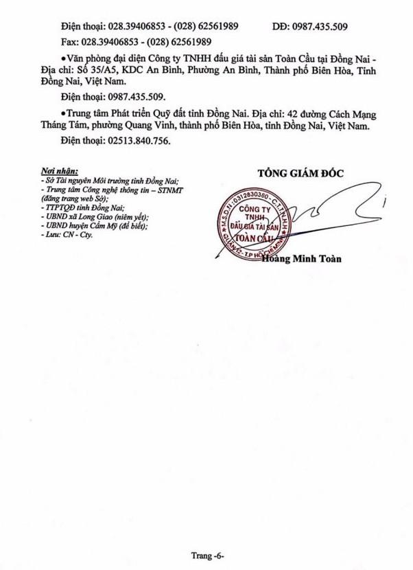 Ngày 4/7/2019, đấu giá quyền sử dụng 18 thửa đất tại huyện Cẩm Mỹ, tỉnh Đồng Nai ảnh 6