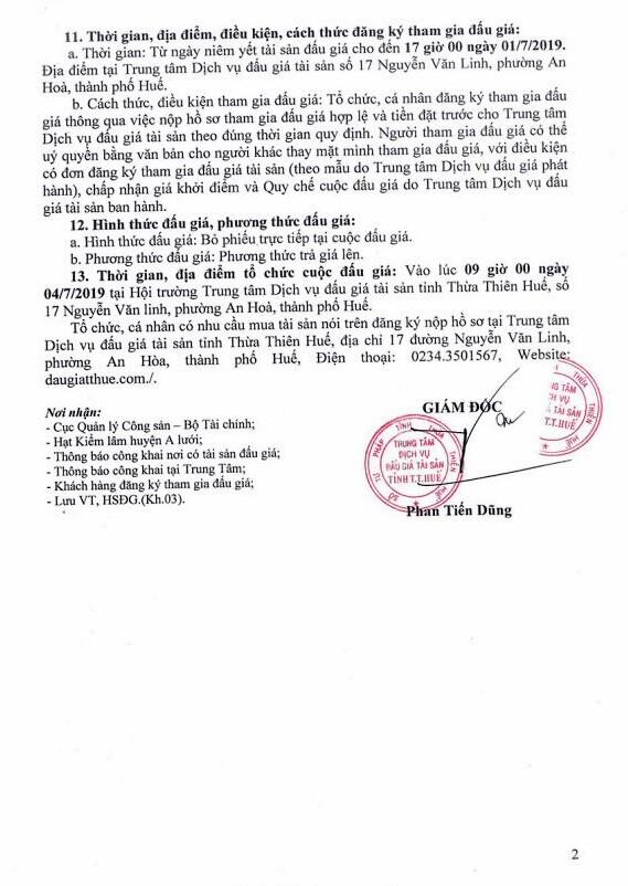 Ngày 4/7/2019, đấu giá lô gỗ tại tỉnh Thừa Thiên Huế ảnh 2
