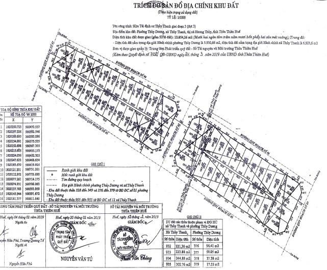 Ngày 29/11/2019, đấu giá quyền sử dụng 24 lô đất tại thị xã Hương Thủy, tỉnh Thừa Thiên Huế ảnh 2