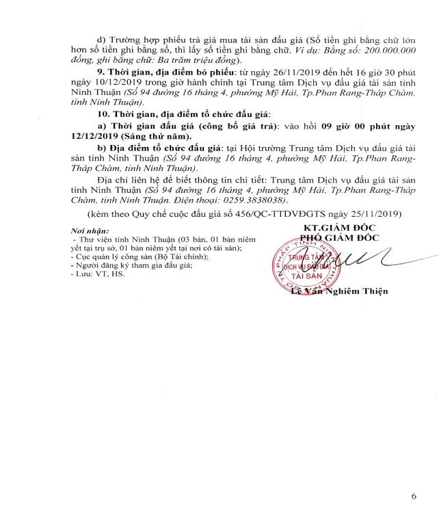 Ngày 12/12/2019, đấu giá thanh lý vật liệu thu hồi tại tỉnh Ninh Thuận ảnh 6