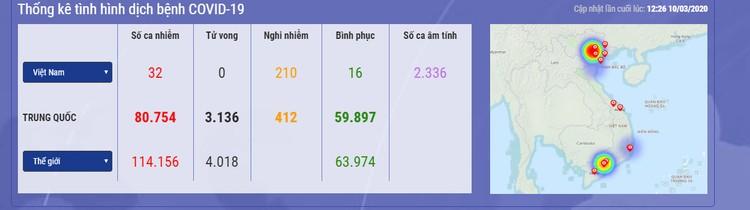 Dịch COVID-19 (cập nhật trưa ngày 10/3): Việt Nam công bố ca nhiễm thứ 32 ảnh 1