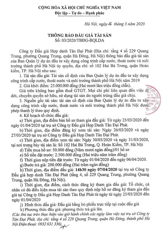 Ngày 7/4/2020, đấu giá máy móc thiết bị tại Hà Nội ảnh 1