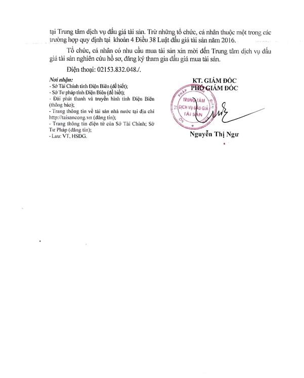 Ngày 9/4/2020, đấu giá vật chứng vụ án tịch thu sung quỹ tại tỉnh Điện Biên ảnh 2