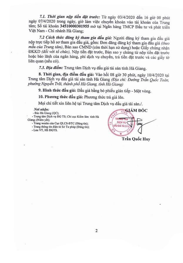 Ngày 10/4/2020, đấu giá hàng hóa tịch thu tại tỉnh Hà Giang ảnh 2