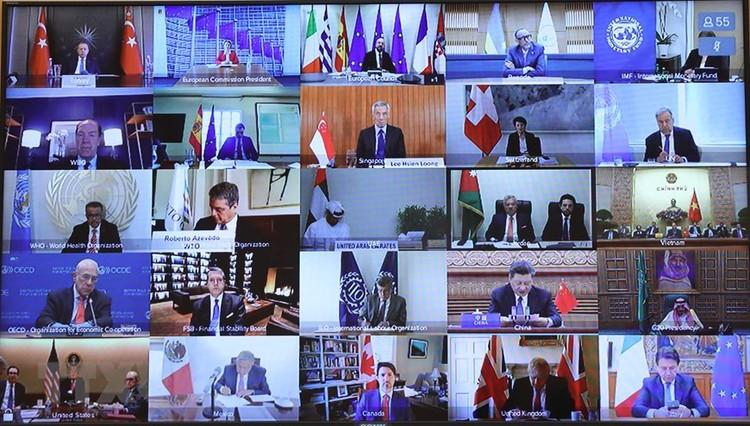 Họp trực tuyến G20, Thủ tướng chia sẻ nhiều biện pháp hành động chung ứng phó COVID-19 ảnh 1