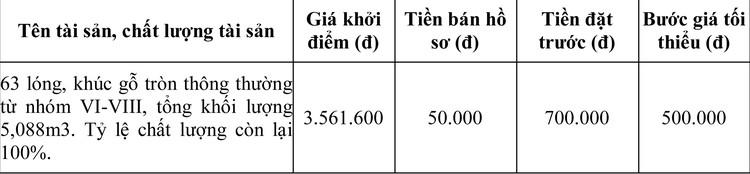 Ngày 1/4/2020, đấu giá tang vật vi phạm hành chính bị tịch thu tại tỉnh Bắc Kạn ảnh 1