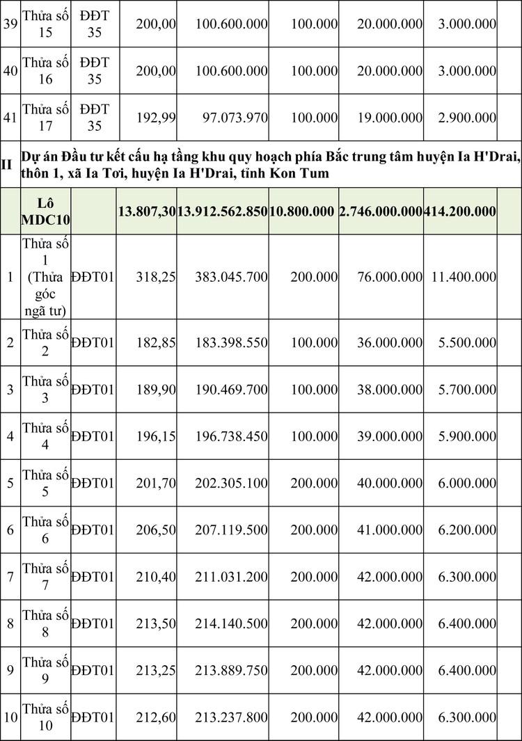 Ngày 16/4/2020, đấu giá quyền sử dụng đất tại huyện Ia H'Drai, tỉnh Kon Tum ảnh 4