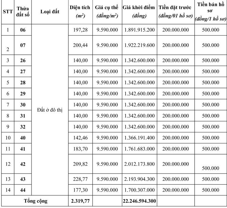 Ngày 19/4/2020, đấu giá quyền sử dụng đất tại huyện Mộc Châu, tỉnh Sơn La ảnh 2