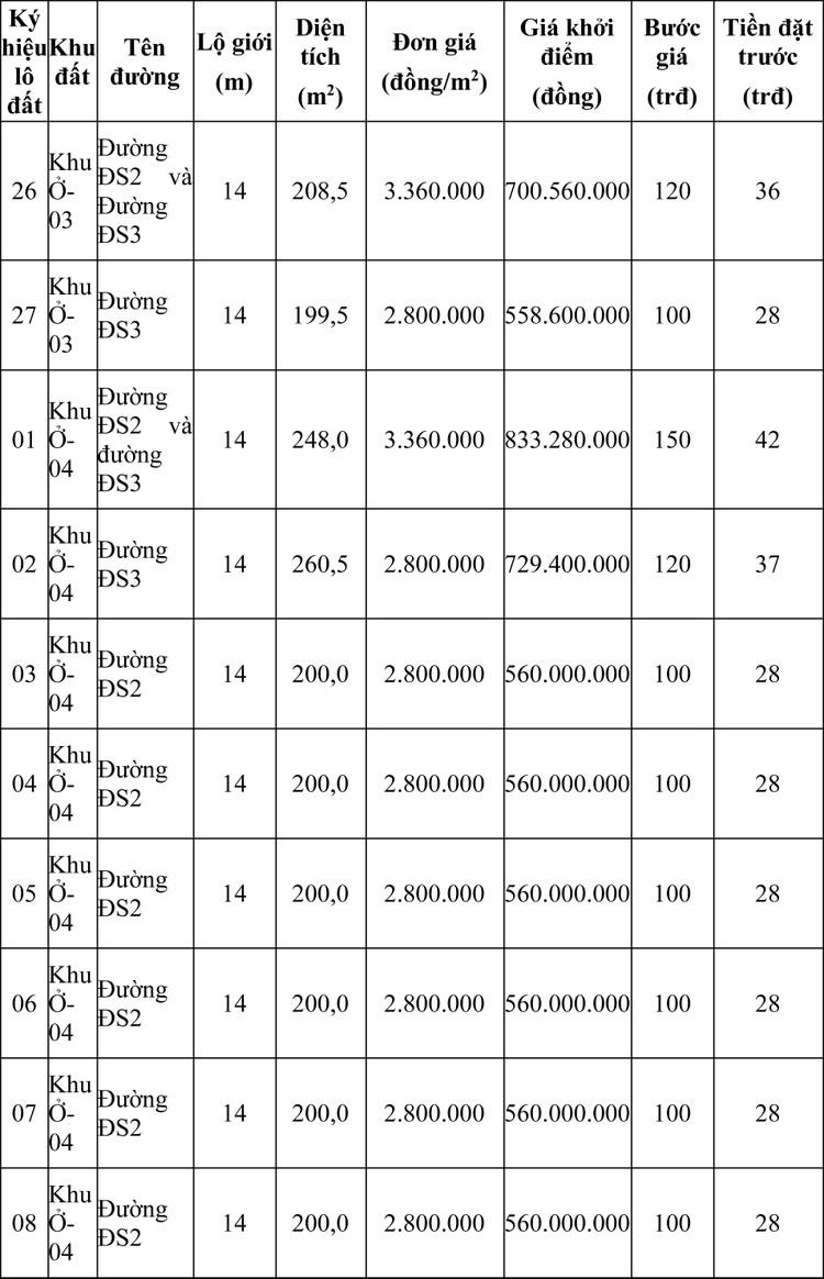 Ngày 8/5/2020, đấu giá quyền sử dụng đất tại thành phố Quy Nhơn, tỉnh Bình Định ảnh 1