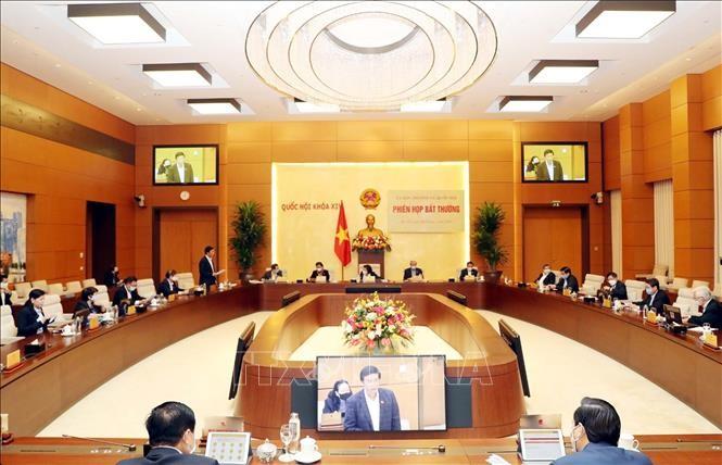 Ủy ban Thường vụ Quốc hội họp phiên bất thường ảnh 4