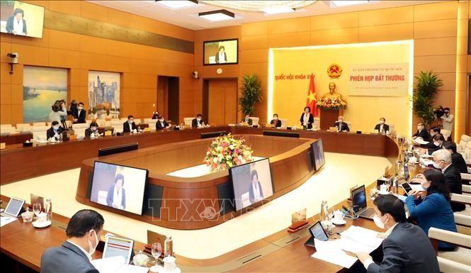Ủy ban Thường vụ Quốc hội họp phiên bất thường ảnh 5