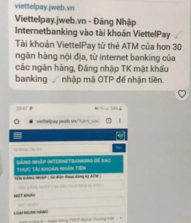 Công an Hà Nội cảnh báo giả mạo Viettelpay để lừa đảo chiếm đoạt tài sản ảnh 1
