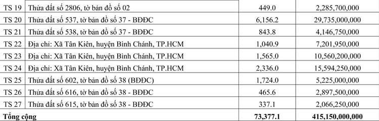 Ngày 21/4/2020, đấu giá quyền sử dụng đất tại huyện Bình Chánh, TP.HCM ảnh 2