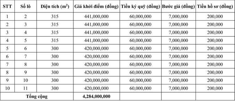 Ngày 15/5/2020, đấu giá quyền sử dụng đất tại huyện Cam Lộ, tỉnh Quảng Trị ảnh 1
