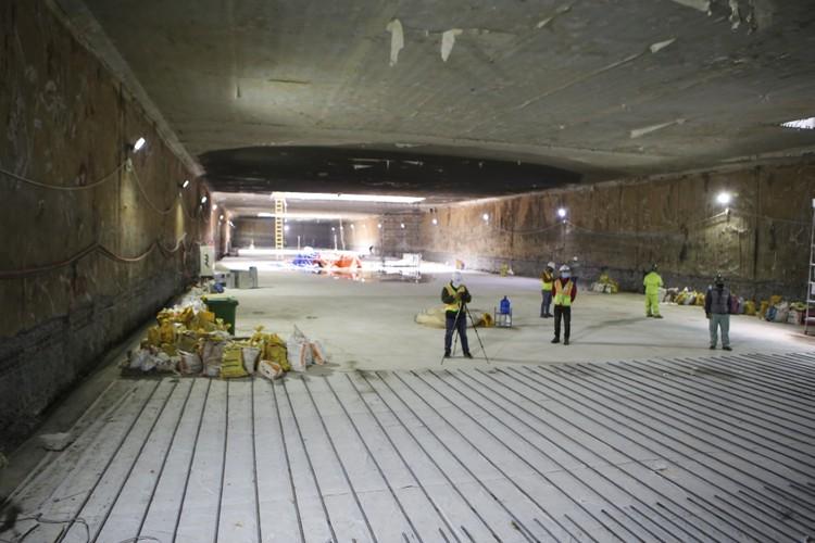 Cận cảnh ga ngầm đầu tiên của tuyến đường sắt đô thị Nhổn – ga Hà Nội ảnh 1