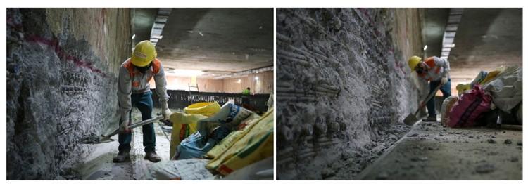 Cận cảnh ga ngầm đầu tiên của tuyến đường sắt đô thị Nhổn – ga Hà Nội ảnh 5