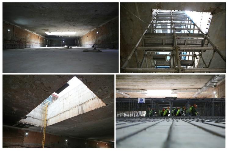 Cận cảnh ga ngầm đầu tiên của tuyến đường sắt đô thị Nhổn – ga Hà Nội ảnh 7