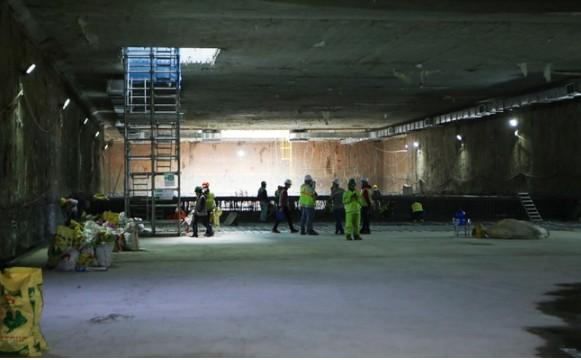 Cận cảnh ga ngầm đầu tiên của tuyến đường sắt đô thị Nhổn – ga Hà Nội ảnh 8