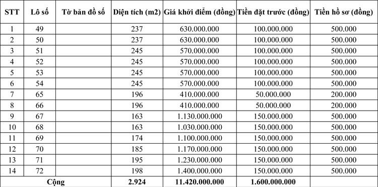 Ngày 31/5/2020, đấu giá quyền sử dụng đất tại huyện Vĩnh Linh, tỉnh Quảng Trị ảnh 2