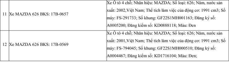 Ngày 11/6/2020, đấu giá 12 xe ôtô tại tỉnh Thái Bình ảnh 4