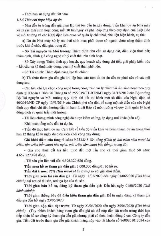 Ngày 26/6/2020, đấu giá quyền sử dụng đất tại huyện Châu Thành, tỉnh Sóc Trăng ảnh 2