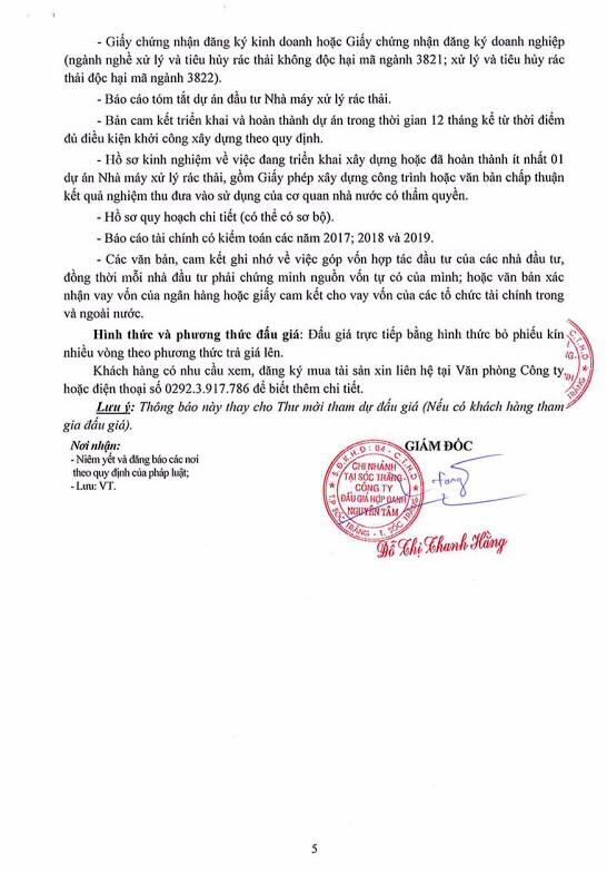 Ngày 26/6/2020, đấu giá quyền sử dụng đất tại huyện Châu Thành, tỉnh Sóc Trăng ảnh 5