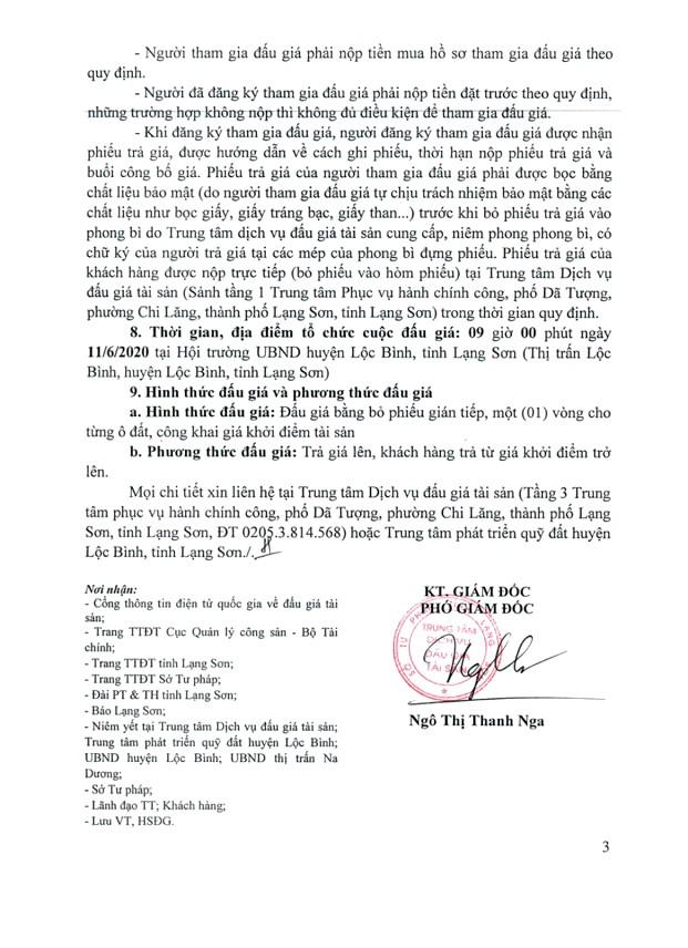 Ngày 11/6/2020, đấu giá quyền sử dụng đất tại huyện Lộc Bình, tỉnh Lạng Sơn ảnh 3