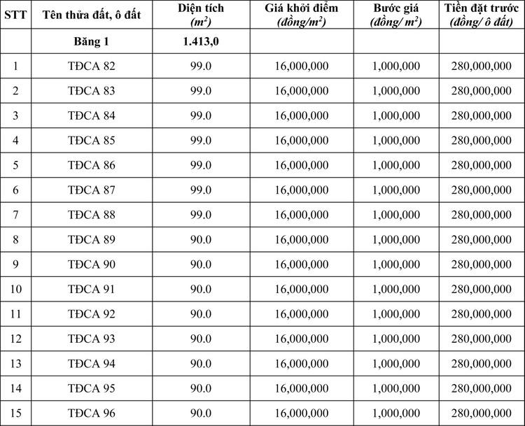 Ngày 18/6/2020, đấu giá quyền sử dụng đất tại thành phố Việt Trì, tỉnh Phú Thọ ảnh 1